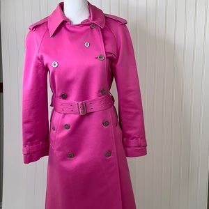 Burberry Pink Trench Jacket size 4